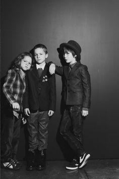 Would love to convince Evan's close school buddies to have a photo-shoot with clothes and accessory props like this!  VOGUE BAMBINI // INDIE ROCK | ANNA PALMA