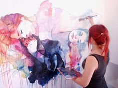I first found Agnes Cecile when I came across a sped up video of her creating a painting from start to finish.