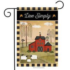 Primitive Farm Sheep Barn Star Live Simply Double Sided Garden Flag 13 x 18 for sale online Seasonal Decor, Holiday Decor, Mailbox Covers, Yard Flags, Sheep Farm, Outdoor Flags, Flag Decor, House Flags, Country Primitive
