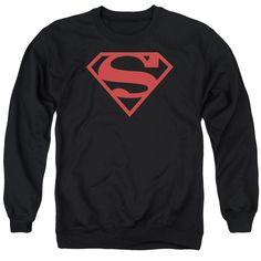 Superboy Classic Shield Logo Mens Crewneck Sweatshirt