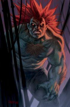 Blanka Street Fighter Tribute by dogmeatsausage on DeviantArt Blanka Street Fighter, Street Fighter Tekken, Minions, Video Game Characters, Marvel Vs, Weird Art, Video Game Art, Comic Art, Comic Book
