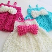 Baby Dress Crochet Pattern, Little Bow - via @Craftsy  $5.00 Pattern
