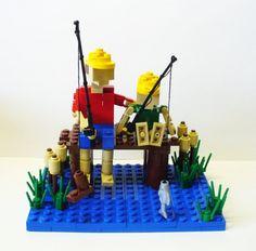 Custom LEGO Miniland Gone Fishing Model by FoldedFancy