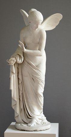 Wolf von Hoyer (1806-1873)   Psyche -1842. Gallery: Neue Pinakothek - Germany