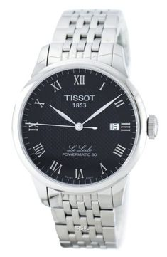 Tissot Le Locle Powermatic 80 Automatic Mens W Stainless Steel Bracelet, Stainless Steel Case, Casio Quartz, Le Locle, Watch Photo, Watches For Men, Jewels, Crystals, Silver