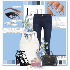 Sin título #437 by mariangel181 on Polyvore featuring polyvore fashion style Frame Denim Giuseppe Zanotti Dolce&Gabbana