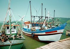 Two fishing vessels at dock