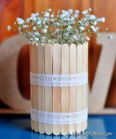 Unfinished Wood Popsicle Sticks - Popsicle Sticks and Fan Sticks - Wood Crafts - Hobby - Craft Supplies Home Crafts, Diy And Crafts, Crafts For Kids, Paper Crafts, Handmade Crafts, Handmade Ideas, Popsicle Crafts, Craft Stick Crafts, Deco Floral