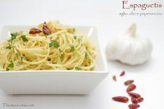 Espaguetis aglio, olio e peperoncino