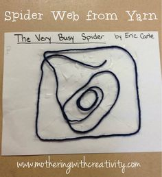 Frugal and simple crafts to go with Eric Carle's The Very Busy Spider...great crafts for fine motor development!