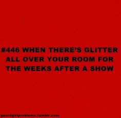 Or in your hair! I swear I still have glitter in my hair from last season!!!!