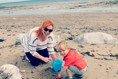 Tattooed Lady With A Baby: Dipping Toes & Sandcastles