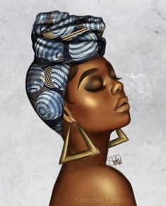 — Joy by luxuryzz artwork african art africa Black Women Art! — Joy by luxuryzz Black Art Painting, Black Artwork, Woman Painting, Afro Painting, Black Love Art, Black Girl Art, Art Girl, Afrika Tattoos, Black Girl Cartoon