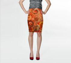 """Fitted Skirt """"Circle of Life"""" by Stacey Brown"""