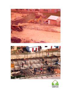 """""""Barrio en Construcción"""" por Jairo Jorge Diez Correa. Segundo Lugar del Concurso y Muestra Fotográfica Paulo VI Segundo Sector - 40 Años - en la categoría Fotos Antiguas."""