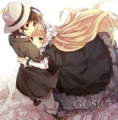 Anime Couples Victorique x Kazuya - I LOVE their innocent friendship and love for each other. Which makes them my favorite anime couple ever! Anime Chibi, Kawaii Anime, Anime Manga, Anime Art, Anime Cosplay, Gosick Victorique, Koi, Otaku, Cute Couple Comics