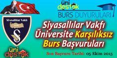 #burs  Siyasallılar Vakfı Üniversite Karşılıksız Burs Başvuruları  http://unidestek.net/siyasallilar-vakfi-2015-universite-karsiliksiz-burs-basvurulari/
