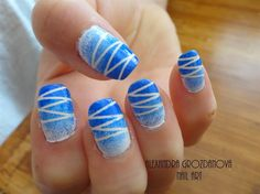 White & Blue  by AGnails from Nail Art Gallery