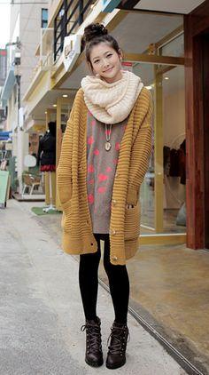 click v-neck knit cardigan