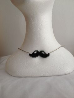 Mustache necklace by MadebyBlackSheep on Etsy