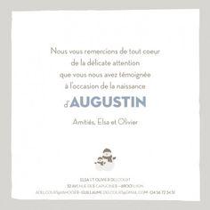 Carte de remerciement (thank you card) : Petit bonhomme - by Jeanne Triochka pour http://www.fairepartnaissance.fr #naissance #remerciement #birth