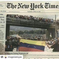 Noticia Internacional #25abril #THENEWYORKTIME #NoticiaMundial #NoMásRepresión #VenezuelaLibre #NY #OEA #VenezuelaLibre #Caracas #BrutalRepresión #AN #Dictadura #NarcoEstado #ElPuebloUnido #HaciendoHistoria #JuntosSomosMás #NicolásTeVás #CúpulaCorrupta #imagenestuyas #VenezuelaQuiereCambio #PrensaDeHoy #QueElMundoSeEntere  #Repost @imagenestuyas