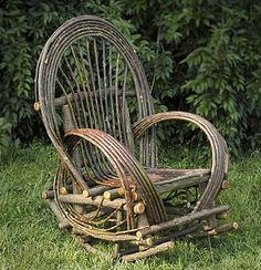 around the bend willow furniture :: oversize rocker :: Seating
