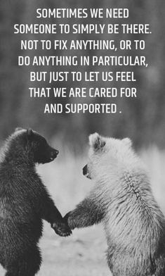 You are cared for and supported!