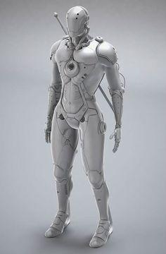 Rakan Khamash. Project Yasha: A strong Ninja Cyborg. 2D concept by ~ichitakaseto and i used some google images ( Tron , Iron man etc.. )