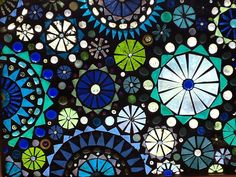 Stunning glass mosaic window in shades of от lowlightcreations