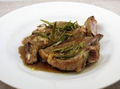 Côtes d'agneau au romarin