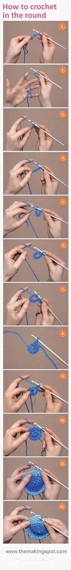 How to crochet in the round http://www.themakingspot.com/crochet/step-by-step/how-to-crochet-in-the-round?ns_campaign=tutorial_mchannel=pinterest_source=themakingspot_linkname=How-to-crochet-in-the-round_fee=0_day_of_post=Mon_time_of_post=16-17