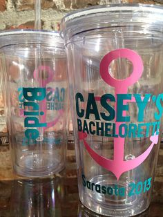 Nautical Anchor Theme Bachelorette Party Tumbler 16 ounce  - PRIORITY SHIPPING