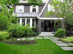"""Nice patio """"extension"""" using the large stepping stones."""