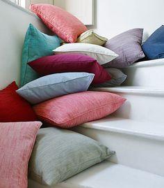 Pronto - Linwood Fabrics. Cushions!