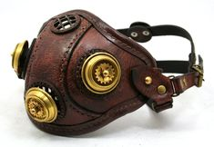 Steampunk Leather Mask made of distressed leather by ~AmbassadorMann on deviantART