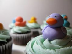 rubber duck cupcakes...great for baby showers