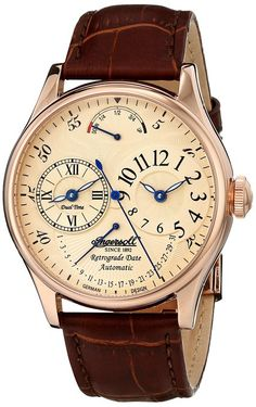 Ingersoll Men's IN3608RCR Ragtime Analog Display Automatic Self Wind Brown Watch