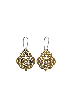 "You'll be the envy of all your friends when you where these old world filigree style earrings. Trendy and stylish lightweight accessory    Measures: 3.75"" X 2""W   Filigree Drop Earrings by House and Garden Boutique. Accessories - Jewelry - Earrings Woodstock, Georgia"