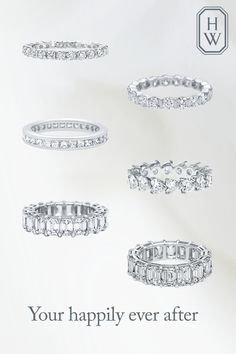 Wedding Bands We now pronounce you husband and wife. Let the journey begin with a Harry Winston wedding ring to celebrate one of life's greatest gifts - the gift of true love. Shop wedding bands from Harry WInston today. Harry Winston Wedding Rings, Inexpensive Wedding Venues, Ring Verlobung, Gold Engagement Rings, Eternity Bands, Eternity Ring Diamond, Diamond Wedding Bands, Diamond Bands, Vintage Costume Jewelry