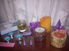 my small but cherished collection... Candle