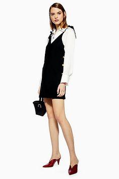 88623f9e0b9 Womens Petite Black Button Mini Slip Dress - Black