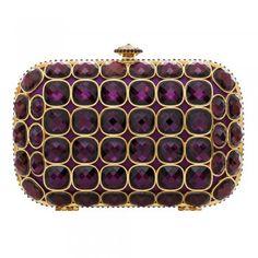 Talullah Tu - Baroque Purple Crystal Clutch Bag