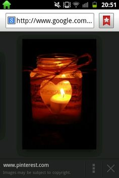 Jam jar tea lights