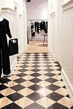 Painted wood floor