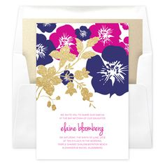 Lei Foils Invitation (includes envelopes) Printing: Digital Lithography