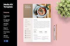 Media Kit Template for Blogger by anabellahope on @creativemarket