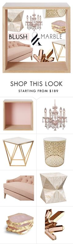 """""""Blush, Marble and Home, Oh My!"""" by tornmer ❤ liked on Polyvore featuring interior, interiors, interior design, home, home decor, interior decorating, Muuto, Crystorama, Nuevo and Dana Gibson"""