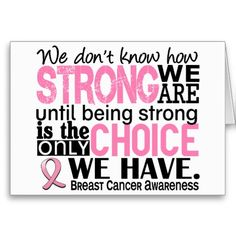 Breast Cancer How Strong We Are Greeting Cards