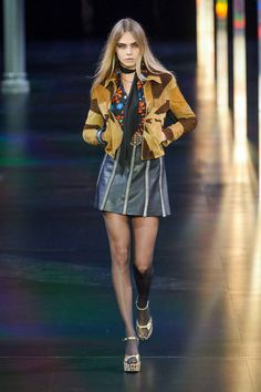 Look at the top ten runway looks from Spring 2015 Fashion Month including, Saint Laurent and more here: